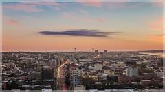 Dynamic (ericles1976) Tags: skyline brooklyn new york urban landscape outdoors city cityscapes nyc sunsets sunrise canon teamcanon g1x longexposure clouds street verizona bridge vacation travel
