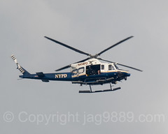 NYPD Helicopter Bell 412-EP (N414PD), New York City (jag9889) Tags: washingtonheights usa aircraft manhattan unit newyork outdoor 2016 20160920 n414pd police aviation helicopter nypd newyorkcity jag9889 bell airplane copter finest firstresponder heli helikopter lawenforcement ny nyc newyorkcitypolicedepartment policedepartment transportation unitedstates unitedstatesofamerica wahi edgewater newjersey us