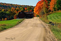 Road to Fall (Eyes Open To Life) Tags: williston vermont fall autumn backroad countryside nature trees road barn hillside leaves multicolor inspiredbylove