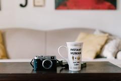 favorite things. (Brandy Jaggers) Tags: coffee fujix100t indoor naturallight nikon50mmf14 nikond700