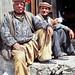 Lovely men having a teabreak, Karimabad, Pakistan パキスタン、カリマバードの可愛いじいちゃんたち