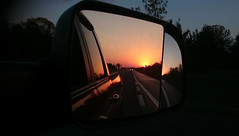 Sunset thru side view mirror (NicoleW0000) Tags: sunset sideview mirror 401 highway