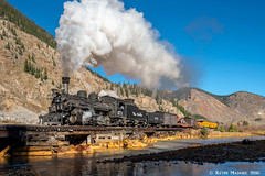 Crossing the Animas southbound (kdmadore) Tags: drgw denverriograndewestern durangosilverton dsng durango silverton steamlocomotive steamengine railroad train narrowgauge