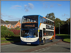 The First, and the last............ (Jason 87030) Tags: d2 e400 trident mx56fuh stagecoach doubledecker daventry shackletondrive ashbyfields northants northamptonshire october 2016 tansfer manchester autumn light