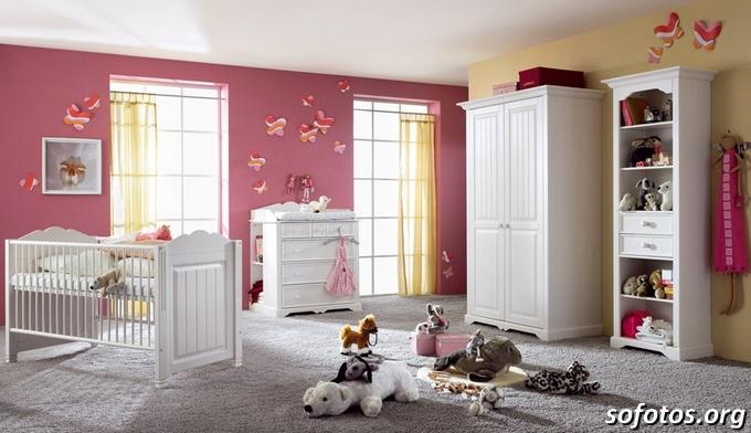 quarto de bebê decorado de ursinho