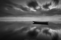 whisper (azrudin) Tags: travel light sea vacation sky cloud lake reflection art beach nature water silhouette sunrise landscape island photography mirror boat blackwhite still lowlight nikon slow jetty wave tokina1224 filter malaysia slowshutter minimalist graduated waterflow longexposures tumpat graduatedfilter sifoocom gnd09 d7000 rgnd azrudin jubakarpantai