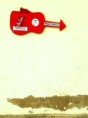 Guitar (raspu) Tags: street red urban espaa islands spain rojo guitar guitarra canarias canary islas corralejo afortunadas