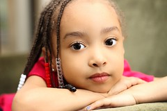 Kamryn (Donald Windley) Tags: portrait girl youth canon children 50mm beads eyes child flash braids f18 t3i 600d neewer