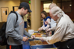 Hot Dog Study Break_051213_0006 (Luther College _ Photo Bureau) Tags: dog hot college zach spring student break towers miller study finals week zachary professor professors volunteer faculty semester luther volunteerism 2013 dieseth stottler 20122013 brunsdale
