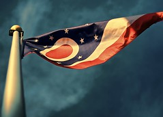 Ohio flag sunset (Berkehaus) Tags: sunset ohio sky clouds flag pole