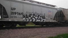 PAYUP (MINNESOTA MUNSTER) Tags: minnesota train bench graffiti graff mn freight mankato payup payr flickrandroidapp:filter=none