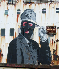 Bungle - The Face Of Authority (cocabeenslinky) Tags: street urban streetart black art face canon john graffiti artist ship grafitti power shot photos graf authority may duke powershot appreciation lancaster graff society bungle hs rowley flintshire artiste the mostyn 2013 of sx220 dudug cocabeenslinky llanerchymr