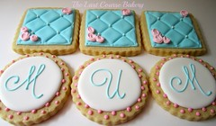 Cookies for Mum (The Last Course Bakery) Tags: wedding party cookies shower monogram mothers tufted decorated