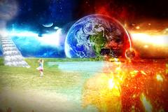 When planets collide (robertsonamanda369) Tags: collide planets collision fantasy creative mystic imagination