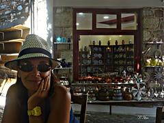 Coffee time in the central plaza of Agiasos Lesbos Greece (panoskaralis) Tags: wife coffe caffe relax woman agiasos lesbos lesvosisland island mytilene greece greek hellas aegeansea summer greeksummer summerholidays holidays