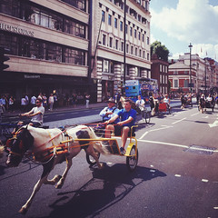 Clippity-Clop (Olly Denton) Tags: horse trap cart gallop trot clipclop horsey parade iphone iphone6 6 vsco vscocam vscolondon ios apple mac piccadilly piccadillycircus westminster london uk