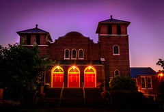 Church... (Jonas Skalsky) Tags: purple color landscape architecture blue washington sky sunset longexposure