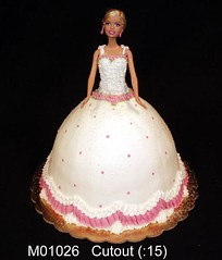 M01026 (merrittsbakery) Tags: cake shaped barbie toy princess bride