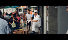 rewind (Dj Poe) Tags: nyc ny manhattan chinatown people availablelight makroplanart2100 ze carlzeisslenses sonyilce7rm2 a7rii a7r2 candid street photography cinema cinematic color tones 2016 summer djpoe andrewmohrer newyork newyorkcity city streets 100mm chef cook f2