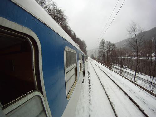 Zug im Elbtal bei Schöna