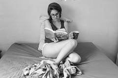 Good Morning 58 (Cadu Dias) Tags: luz natural light manh good morning nikon df 35 35mm pb bn bw grain book preto e branco brazil brazilian brasil cama bed cadu dias cadudias cadupdias day nikondf female feminilidade gro woman girl mulher hot prime lens portrait retrato monochrome people ritratti monocromtico bedroom bom dia window janela