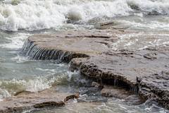 Erie Rocks (K.G.Hawes) Tags: coast erie greatlakes lake lakeerie rock rocks rocky splash splashing water wave waves