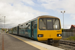 To the seaside (Dai Lygad) Tags: train trains railway railways railroad railroads barry wales barryisland station pacer 143601 143605 class143 bankholiday august summer 2016 travel transport stockphoto freetouse flickr image photo