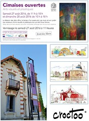 Cimaises ouvertes 2016 (Croctoo) Tags: expo brioux croctoo croctoofr aquarelle watercolor cirque