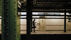 Clarification (Dj Poe) Tags: nyc ny brooklyn bklyn atlanticavenue atlantic avenue subway mta trains train trainstation metro underground 2016 summer sony zeiss cinema cinematic candid 169 color tones andrewmohrer djpoe carlzeisslenses 35m f14 distagont1435 ze availablelight sonya7rii sonya7r2 sonyilce7rm2 man reading book