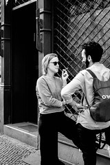 Gossip break (wanderandclick) Tags: fujifilmx gossip deutschland street people germany city fujifilm streetlife berlin man urban woman talking travel break fujifilmxt1 chat smoking xf35mmf2rwr kreuzberg europe streetphotography xt1 de