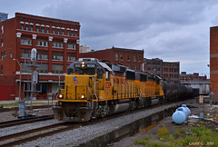 """Westbound Transfer in Kansas City, MO (""""Righteous"""" Grant G.) Tags: up union pacific railroad railway locomotive train trains west westbound bottoms transfer freight manifest kansas city missouri"""