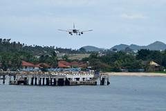 Koh Samui Airport - Bangkok Airways A319 USM (marksmith56) Tags: a319 jet flying approach plane thailand kohsamui kohsamuiairport airplane airbus