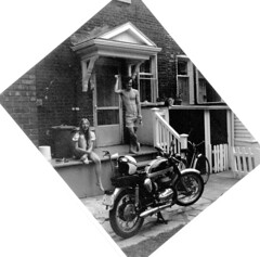 Once upon a time. (Robbie1) Tags: bultaco connaught jane me motorcycle scan
