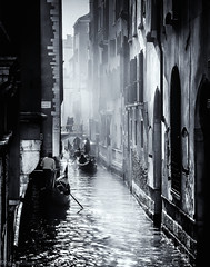 Misty morning in Venice (oxfordwight) Tags: venice venezia gondola misty mist canal