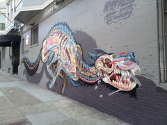 """X-Ray Of A Wolf"", Ashbury @ Haight (Artist: Nychos) (Stephen Kelly Photography) Tags: nychos ashburystreet haightstreet sanfrancisco stephenkellyphotography streetart"