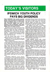Celtic vs Ipswich Town - 1976 - Page 6 (The Sky Strikers) Tags: celtic ipswich town challenge match friendly parkhead souvenir programme 10p