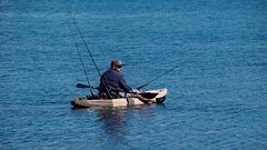 Kayak Fishing (Merrillie) Tags: nsw boat saratoga centralcoastnsw nature davistown australia kayak fishing waterscape nswcentralcoast centralcoast newsouthwales fisherman