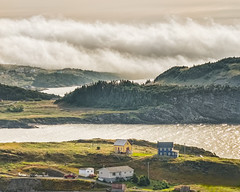 fog in the morning light (-liyen-) Tags: fog mist morning portrexton newfoundland canada summer goldenhour village rural fromabove fujixt1 challengeyouwinner mpt503 matchpointwinner