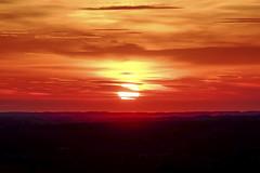 Sunset Fire Coast (JodBart) Tags: billingehill billinge wigan viewpoint hill sunset sun light