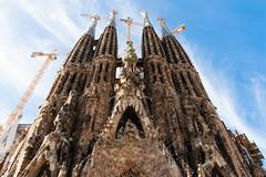 Barcelona (Roger Hanuk) Tags: art artnouveau barcelona belltower cathedral crane fascade gaudi religiousbuilding sagradafamlia spain catalonia