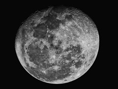 Waning Gibbous ( in Explore ) (Fabianni Luiz) Tags: waninggibbous moon sky astronomy craters night bw lunar space p610 nikon