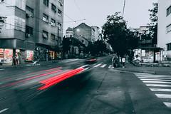 Speed of light (Master Iksi) Tags: speed light road cars city canon 700d belgrade beograd building srbija serbia outdoor sidewalk street blackandwhite splash
