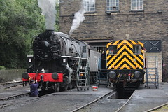 Brake test (JamesHorrellPhotography) Tags: steam trains kwvr haworth keighley 43924 90733 5820 7822 railway