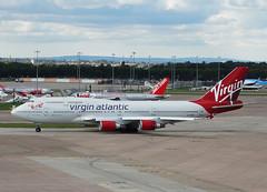 G-VROY Boeing 747-400 of Virgin Atlantic Airways (SteveDHall) Tags: gvroy boeing 747400 virgin boeing747400 virginatlantic virginatlanticairways vaa vir vs jumbo jumbojet b747 b744 b747400 747 744 boeing747 aircraft airport aviation airfield aerodrome aeroplane airplane airliner airliners manchester manchesterairport ringway 2016