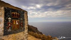 Bateria de castillos II (Luis Corts Zacaras) Tags: bateria castillitos castillo militar espaa murcia cartagena escudo mar nubes