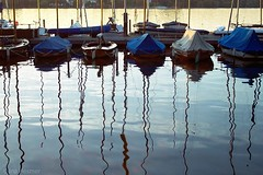 Alster Lake (Ina Hesmer Fotografie) Tags: landscape hamburg alster lake water boats pier masts reflection reflections