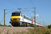 90009 Dunston 26/08/16 - Tonight's second photo of 90009 is taken at Dunston, on the outskirts of Norwich. The 'Skoda' is propelling the 1100 GA service to London Liverpool Street on the 26th of August 2016.