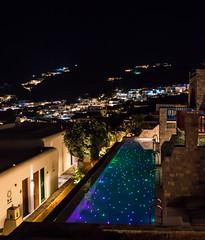 Starlit Swim (Shutterscript) Tags: night pool landscape swim nature stars mountains architecture greece starlight mykonos mykonosgrandhotelresort hotel