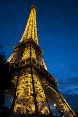 Show Time (ijp01) Tags: france paris eiffeltower champdemars architecture landmark iconic night glow gold yellow blue clouds luminous 7tharrondissement