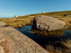 Rock Pool (Karen_Chappell) Tags: rock landscape capespear lighthouse newfoundland nfld canada atlanticcanada avalonpeninsula eastcoast eastcoasttrail rocky water blue green scenery scenic wideangle canonefs1022mm